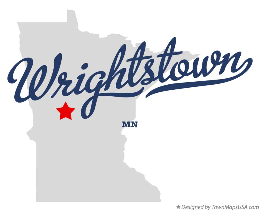 Map of Wrightstown Minnesota MN