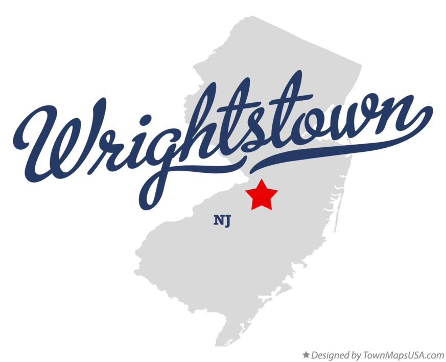 Map of Wrightstown New Jersey NJ