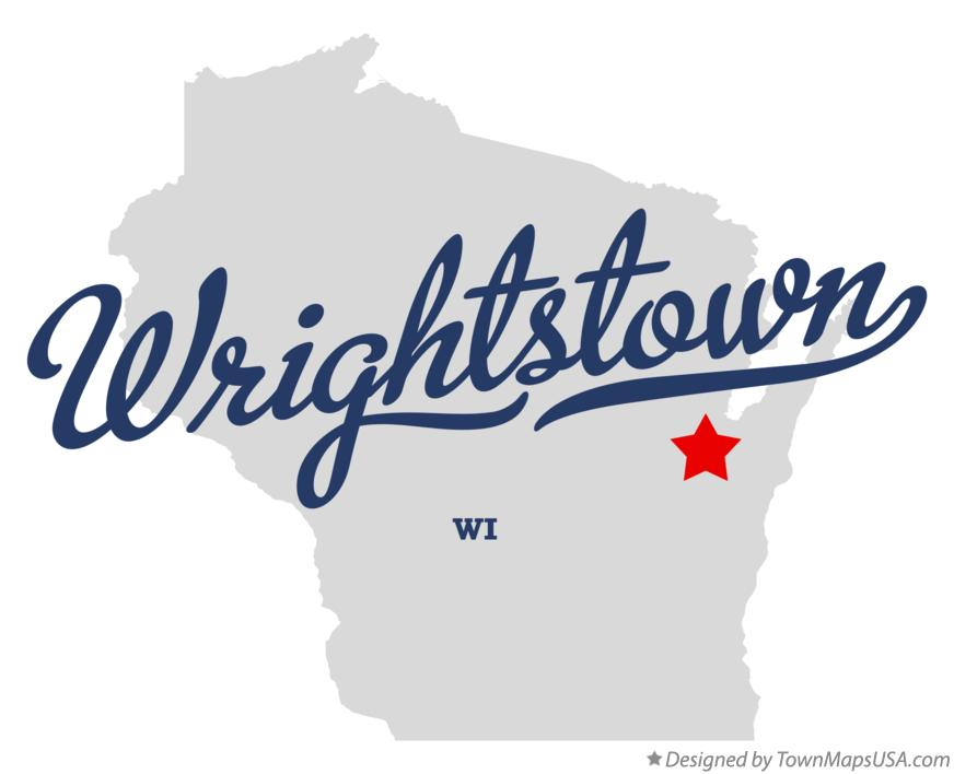 Map of Wrightstown Wisconsin WI
