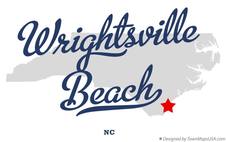 Map of Wrightsville Beach North Carolina NC