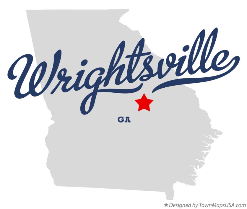 Map of Wrightsville Georgia GA