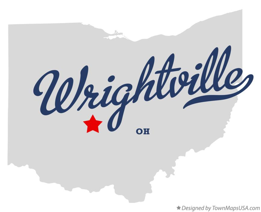 Map of Wrightville Ohio OH