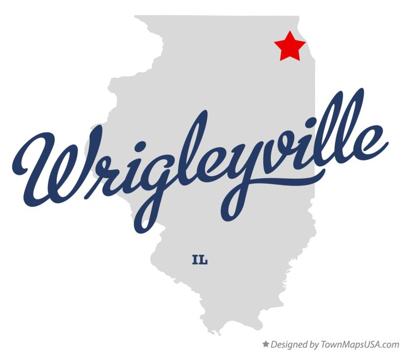 Map of Wrigleyville Illinois IL