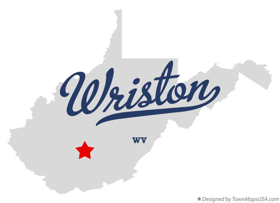 Map of Wriston West Virginia WV