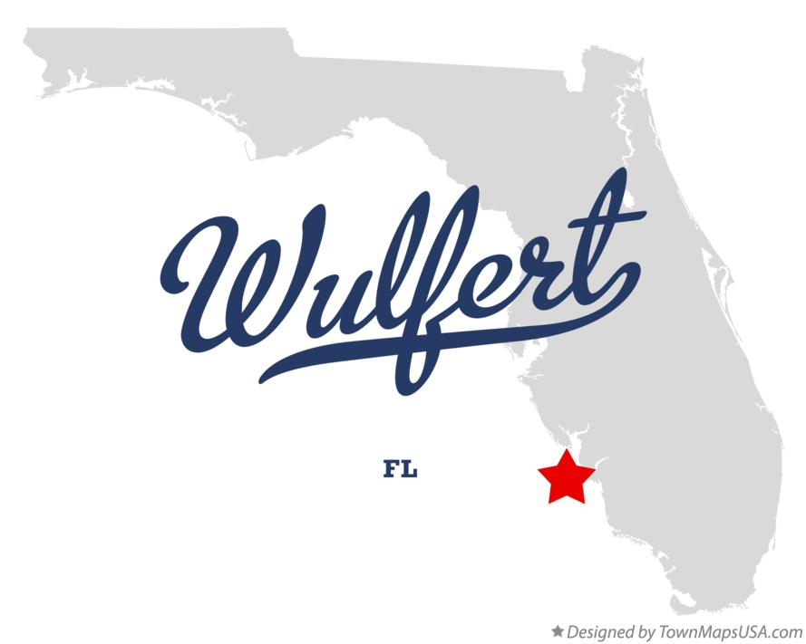 Map of Wulfert Florida FL