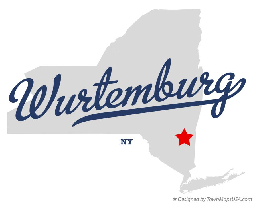 Map of Wurtemburg New York NY