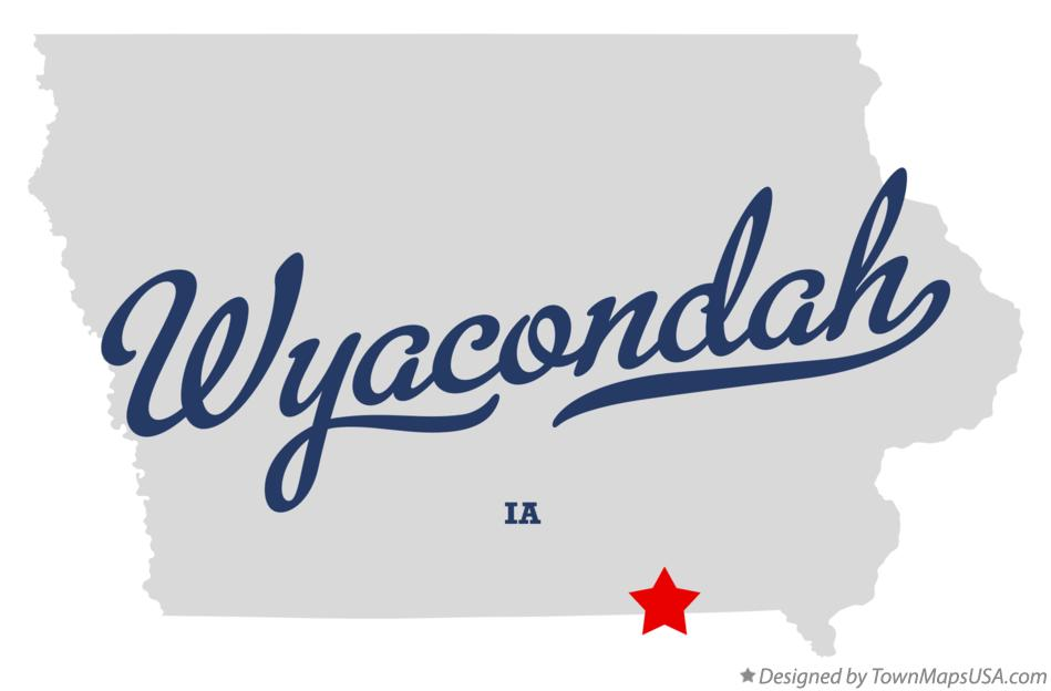 Map of Wyacondah Iowa IA