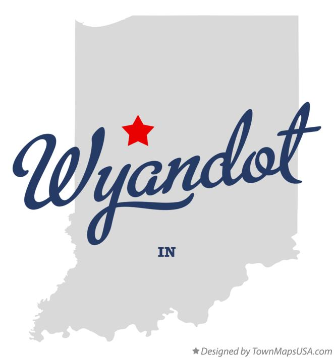 Map of Wyandot Indiana IN