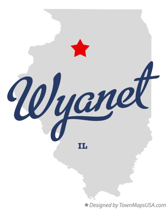 Map of Wyanet Illinois IL