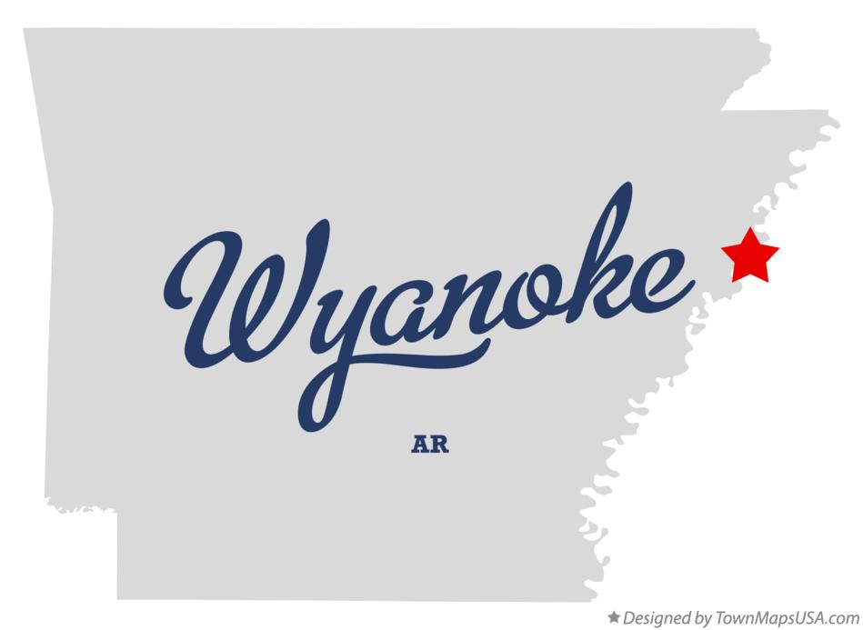 Map of Wyanoke Arkansas AR