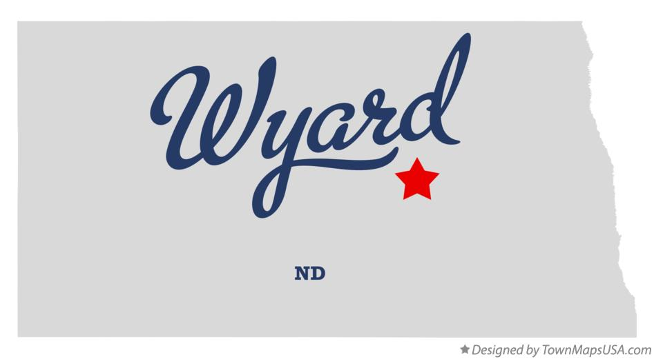 Map of Wyard North Dakota ND