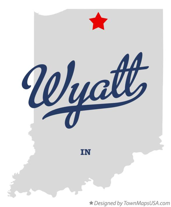 Map of Wyatt Indiana IN