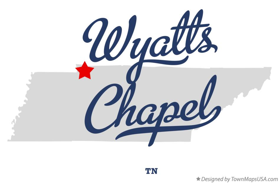 Map of Wyatts Chapel Tennessee TN