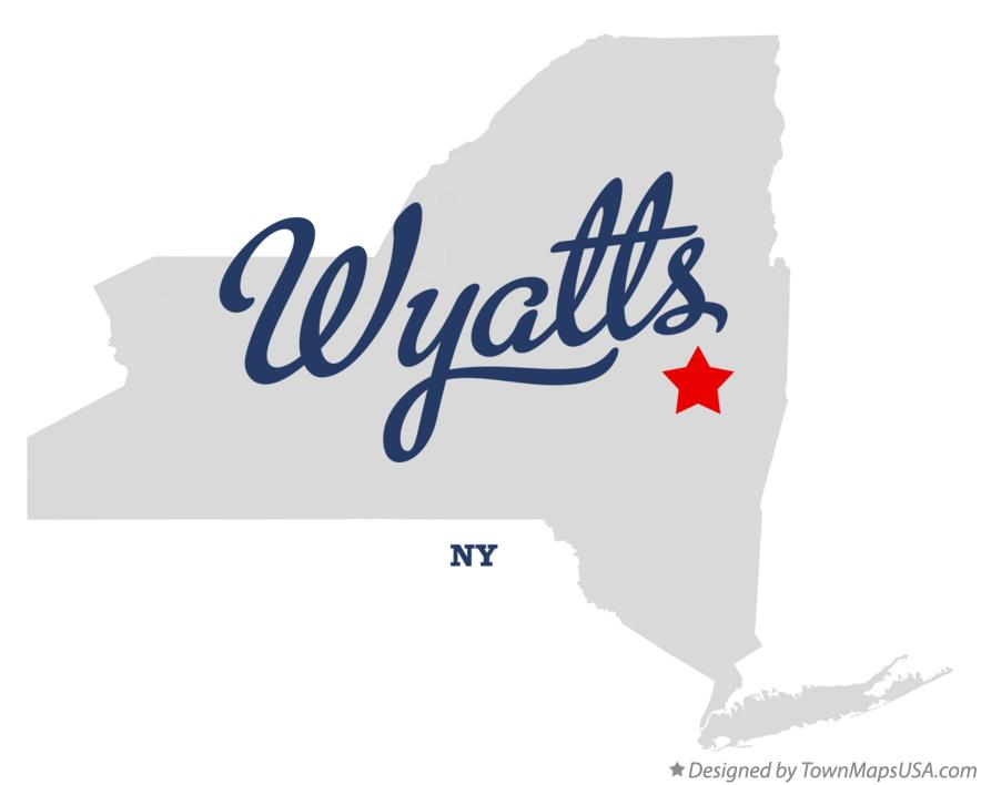Map of Wyatts New York NY