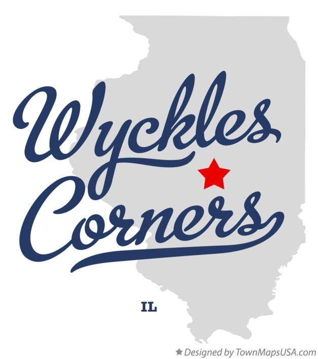 Map of Wyckles Corners Illinois IL