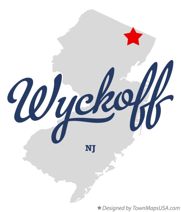 Map of Wyckoff New Jersey NJ