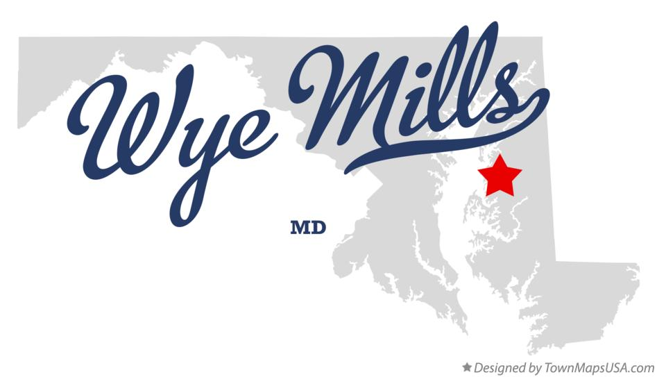 Map of Wye Mills Maryland MD