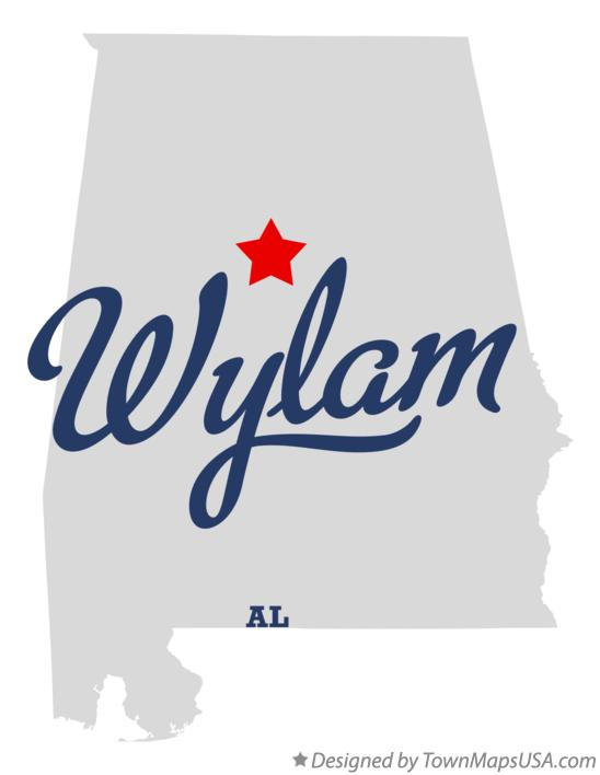 Map of Wylam Alabama AL