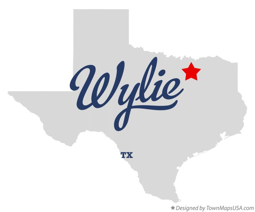 Map of Wylie Texas TX