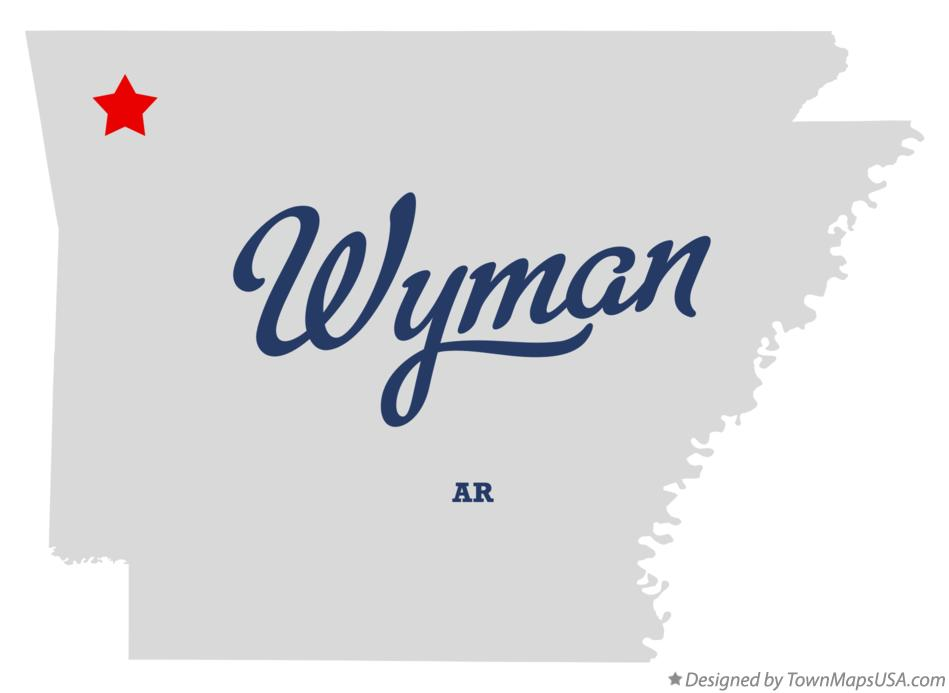 Map of Wyman Arkansas AR
