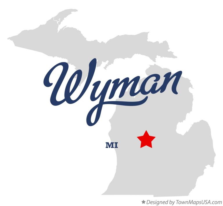 Map of Wyman Michigan MI