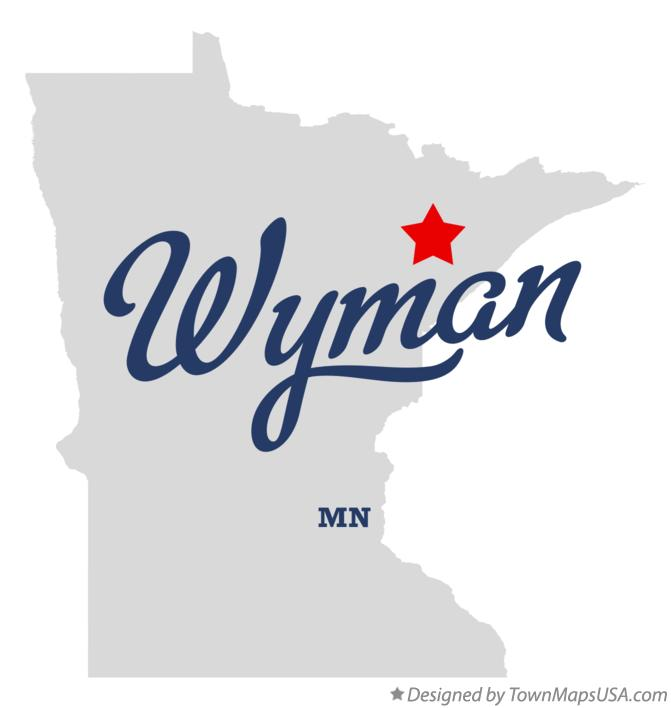Map of Wyman Minnesota MN