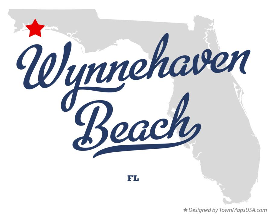 Map of Wynnehaven Beach Florida FL