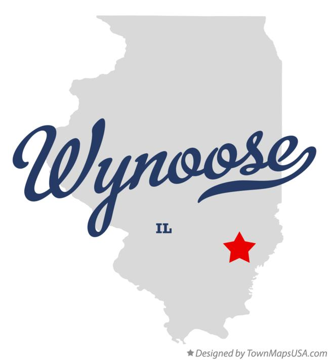 Map of Wynoose Illinois IL