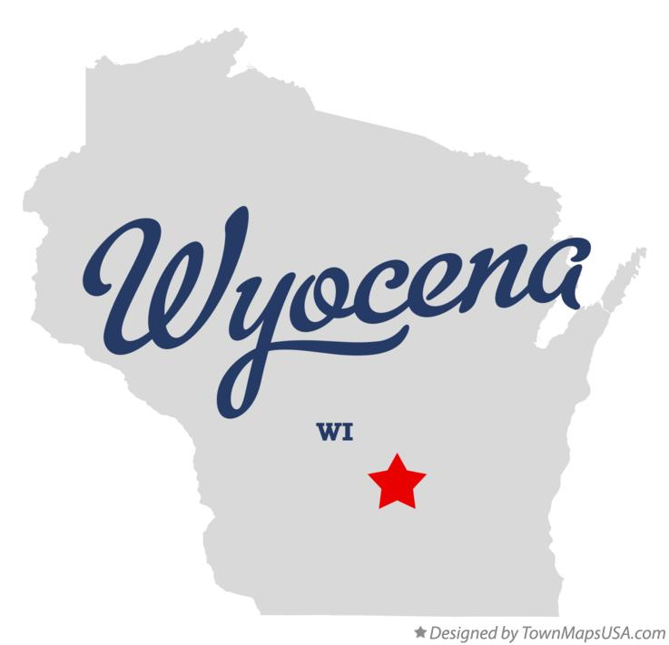 Map of Wyocena Wisconsin WI
