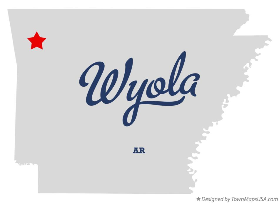 Map of Wyola Arkansas AR