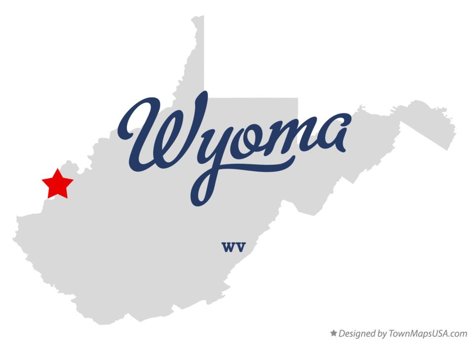Map of Wyoma West Virginia WV