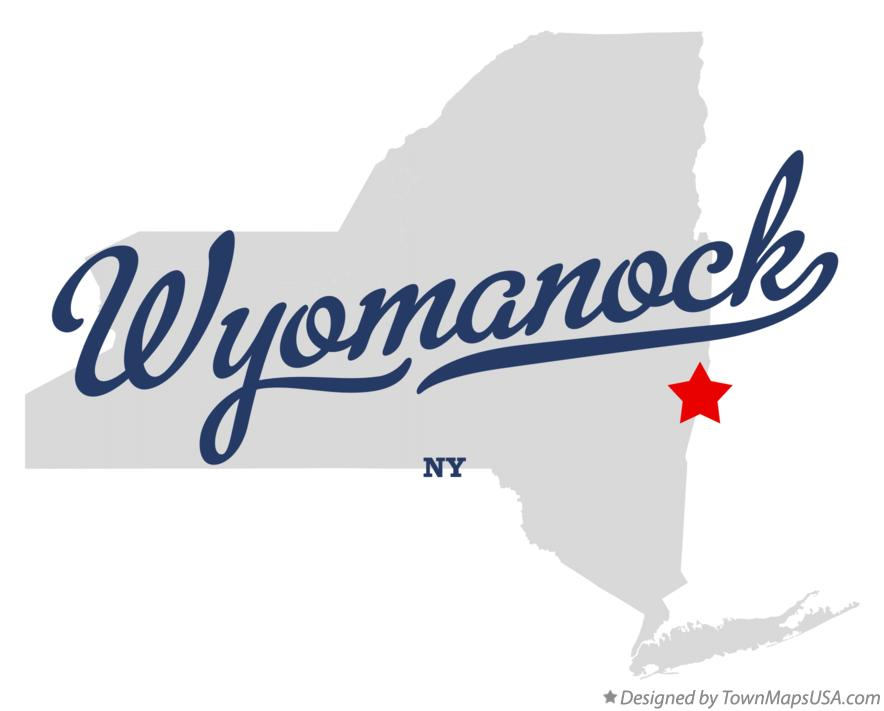 Map of Wyomanock New York NY