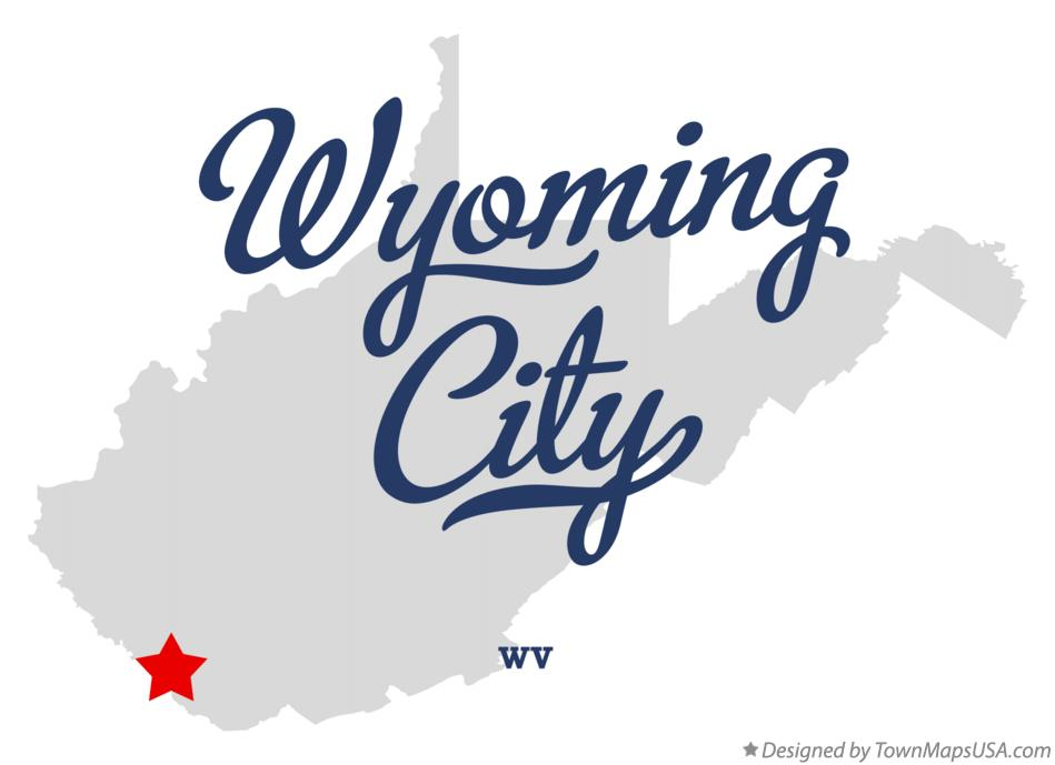 Map of Wyoming City West Virginia WV