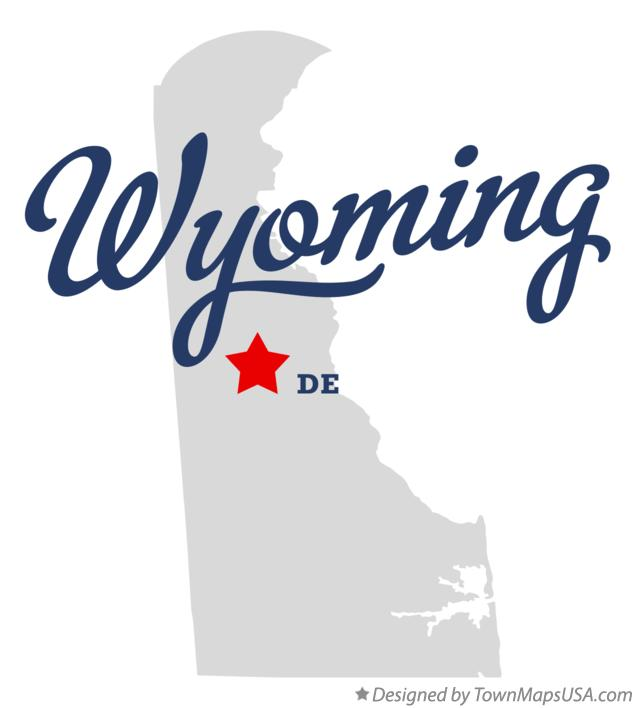 Map of Wyoming Delaware DE