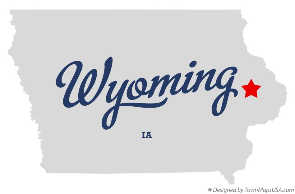 Map of Wyoming Iowa IA