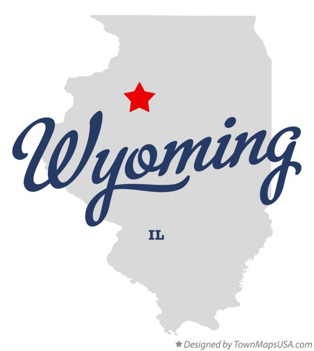 Map of Wyoming Illinois IL