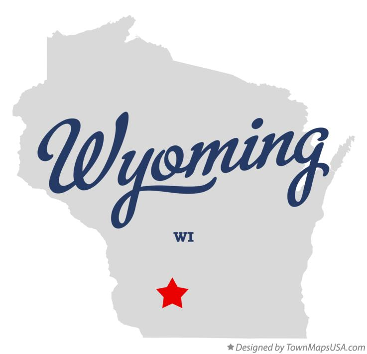 Map of Wyoming Wisconsin WI