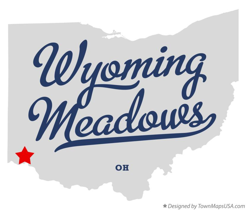 Map of Wyoming Meadows Ohio OH