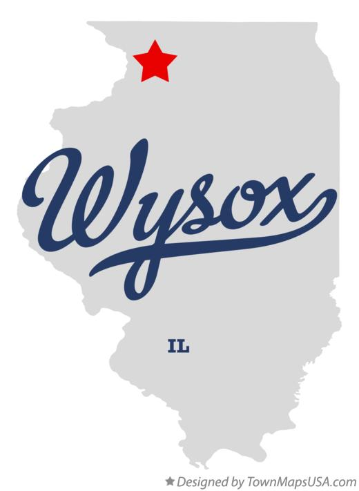 Map of Wysox Illinois IL