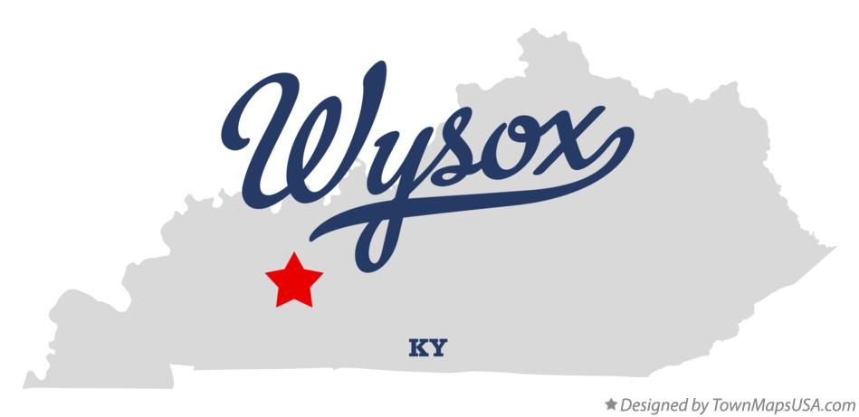 Map of Wysox Kentucky KY