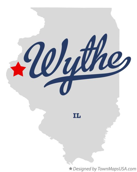 Map of Wythe Illinois IL