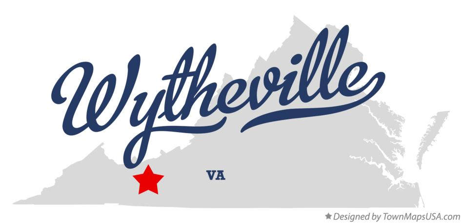 Map of Wytheville Virginia VA