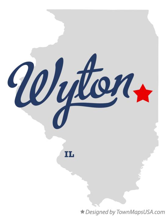Map of Wyton Illinois IL