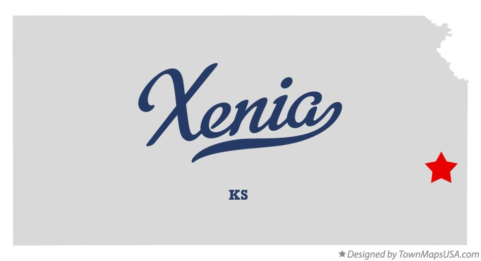 Map of Xenia Kansas KS