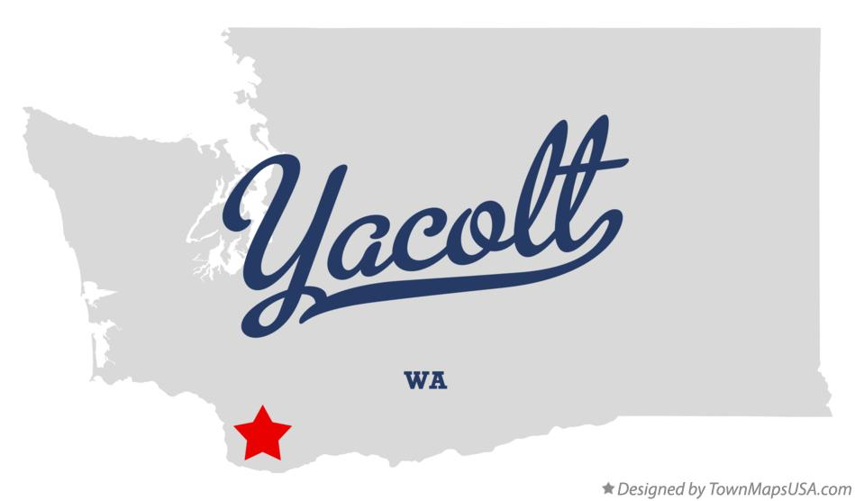 Map of Yacolt Washington WA