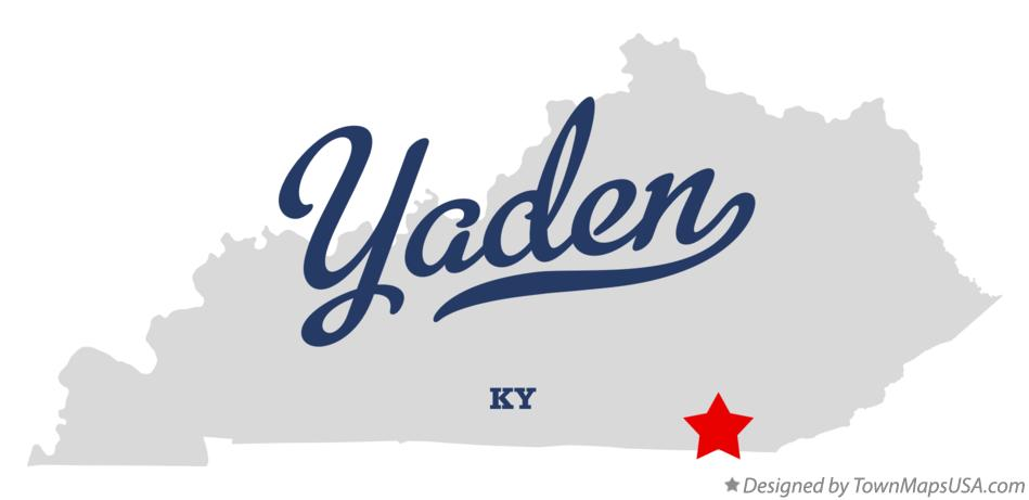 Map of Yaden Kentucky KY