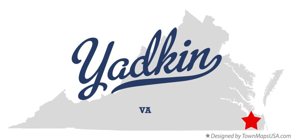 Map of Yadkin Virginia VA