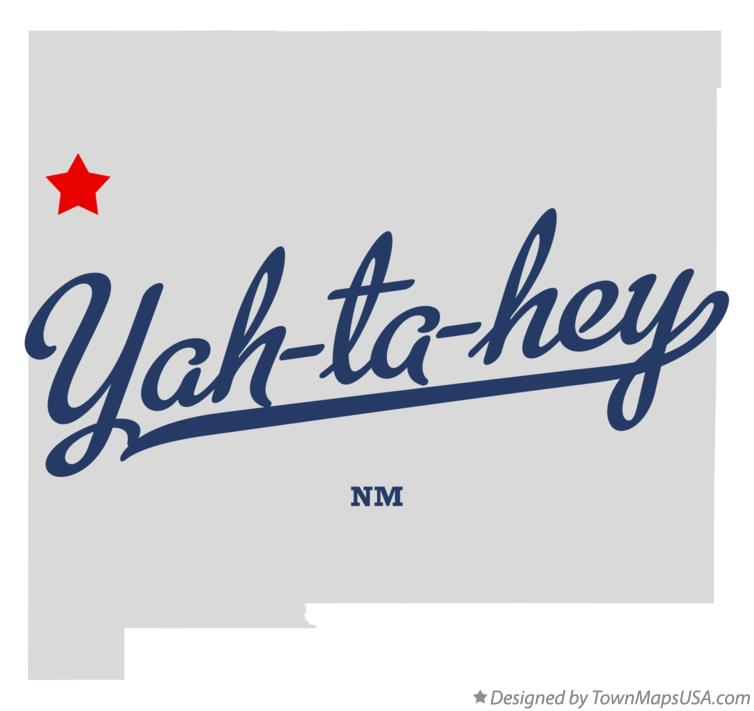 Map of Yah-ta-hey New Mexico NM