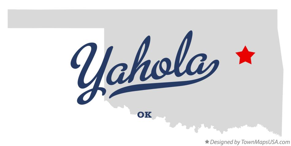 Map of Yahola Oklahoma OK