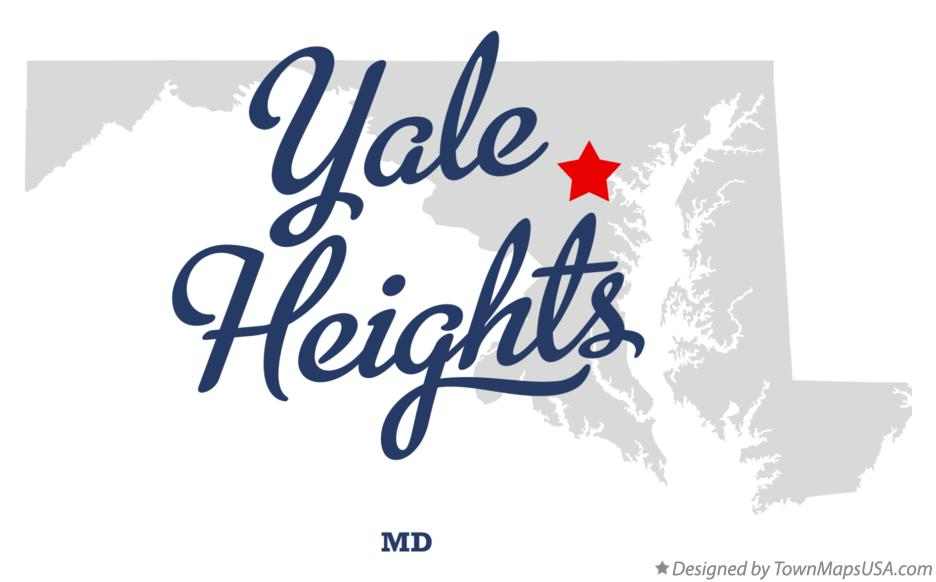Map of Yale Heights Maryland MD